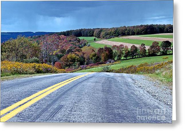 Greeting Card featuring the photograph County Road by Christian Mattison