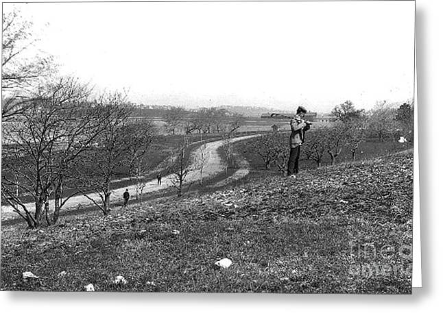 Court Road 1896 Greeting Card by Extrospection Art