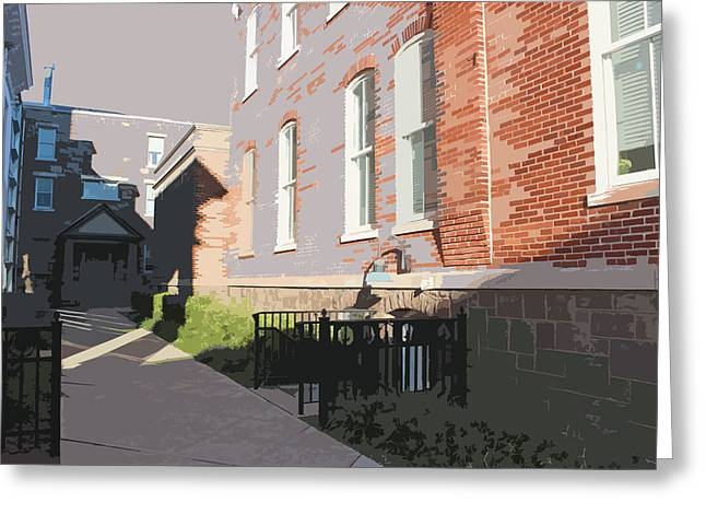 Courthouse Alley Greeting Card by Frank Nicolato