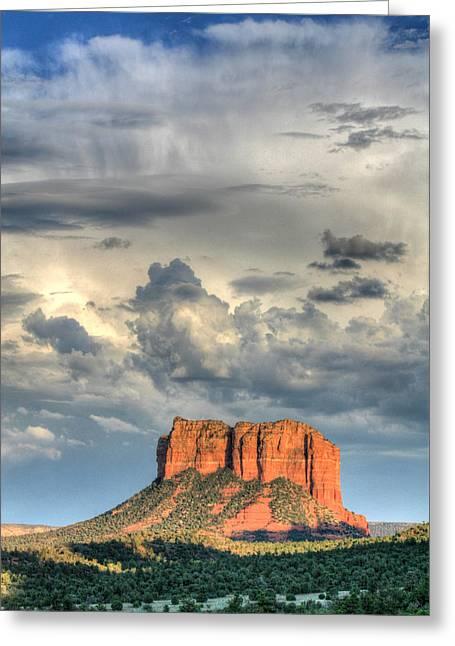 Courthouse Rock I - Sedona Arizona Greeting Card by Dale Athy