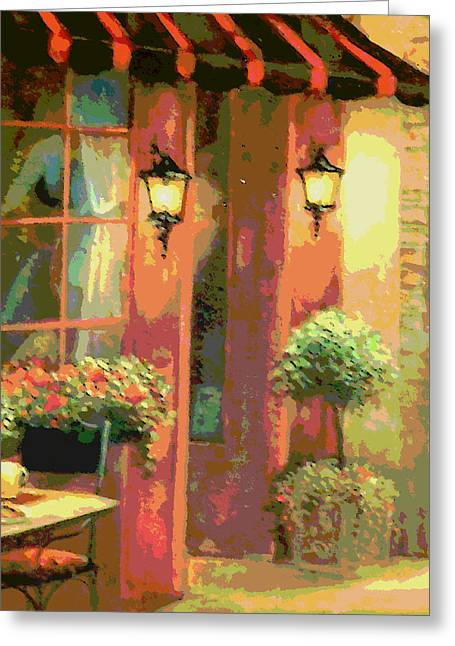 Courtyard Greeting Card by David Alvarez