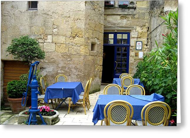 Courtyard In Provence Greeting Card by Dany Lison