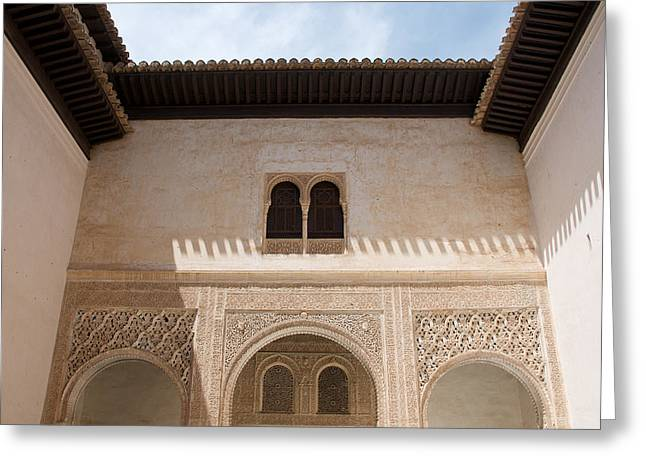 Courtyard Roof Alhambra Greeting Card