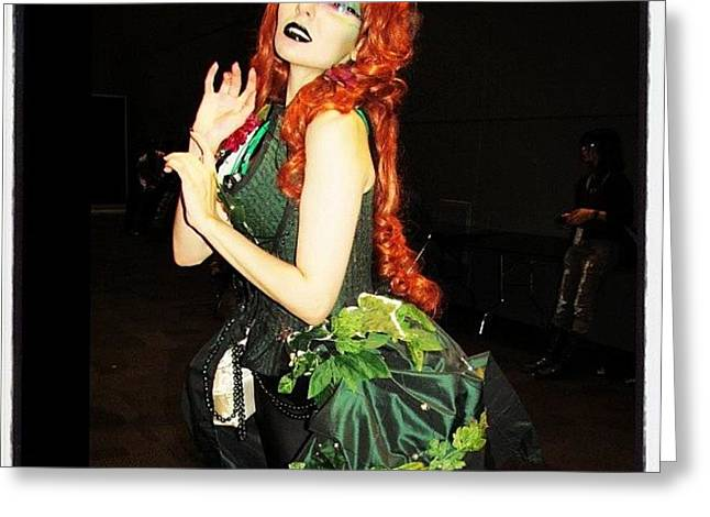 #couture Poison Ivy At #nycc #comiccon Greeting Card