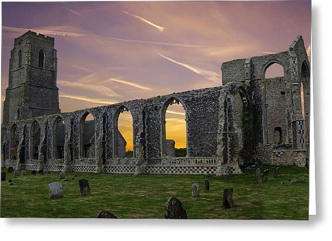 Greeting Card featuring the photograph Covehithe Abbey - Suffolk by Rod Jones