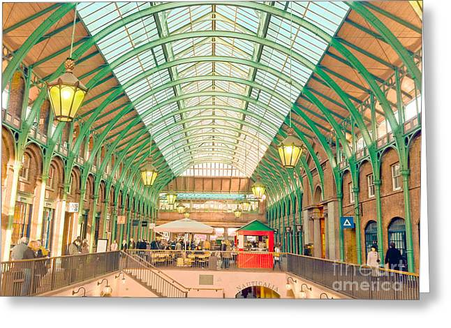 Covent Garden Greeting Card by Damien Keating