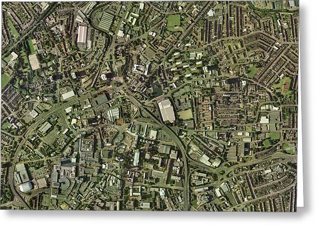 Coventry, Uk, Aerial Image Greeting Card by Getmapping Plc