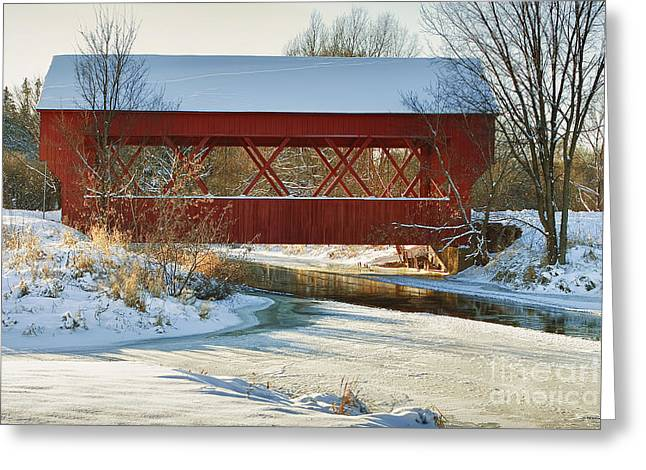 Greeting Card featuring the photograph Covered Bridge by Eunice Gibb