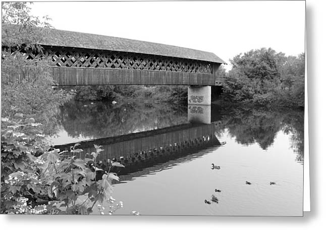 Covered Bridge Guelph Ontario Greeting Card