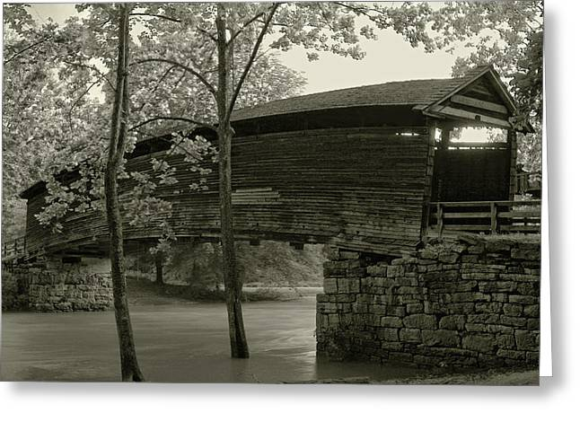 Greeting Card featuring the photograph Covered Bridge by Mary Almond
