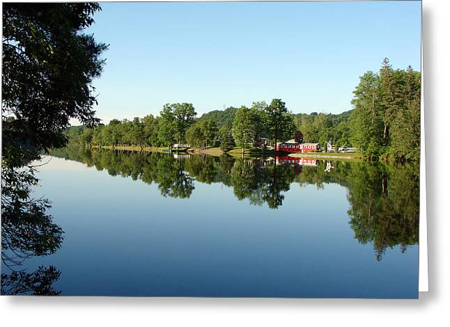 Covered Bridge Reflections At L'ange Gardien Quebec Greeting Card by Bruce Ritchie