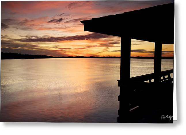 Covered Dock View Greeting Card by Phill Doherty