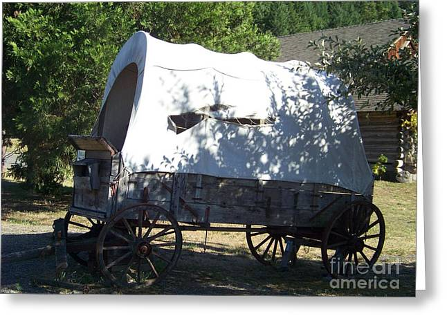 Covered Wagon Greeting Card by Charles Robinson