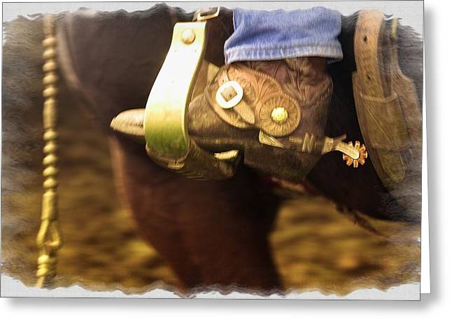 Cowboy Boot Greeting Card by Carson Ganci