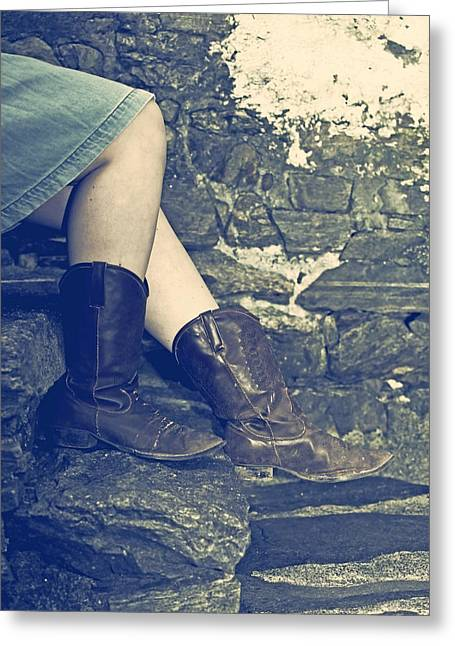 Cowboy Boots Greeting Card by Joana Kruse