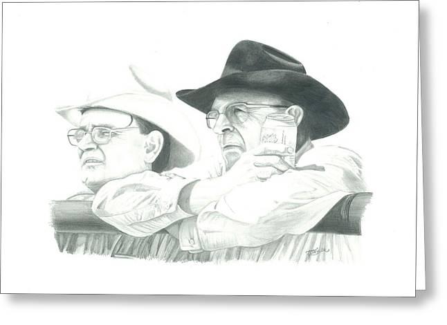 Cowboy Conversation Greeting Card