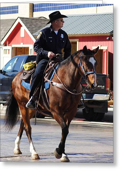 Cowboy Cop Greeting Card by DiDi Higginbotham