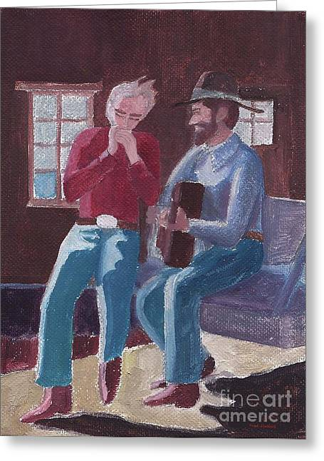 Cowboy Harmonica Greeting Card