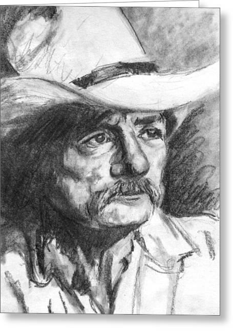 Cowboy In Hat Sketch Greeting Card