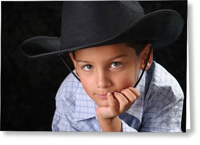 Cowboy Greeting Card by Richard Baptiste
