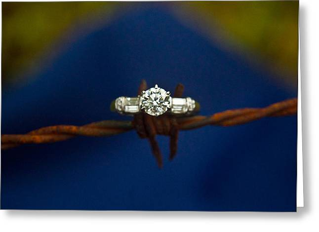Cowgirl Engagement Ring 1 Greeting Card by Douglas Barnett