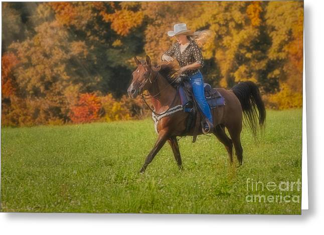Cowgirl Greeting Card by Susan Candelario