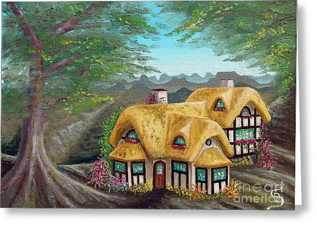 Cozy Cottage From Arboregal Greeting Card