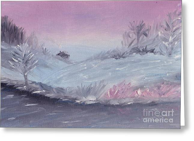 Cozy Winter Twilight Greeting Card