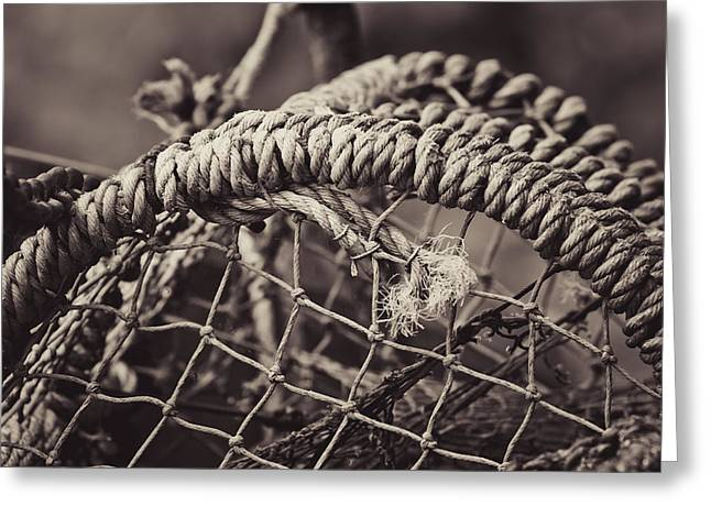 Crab Cage Greeting Card by Justin Albrecht