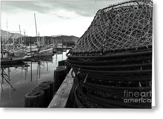 Crab Traps Greeting Card by Darcy Michaelchuk
