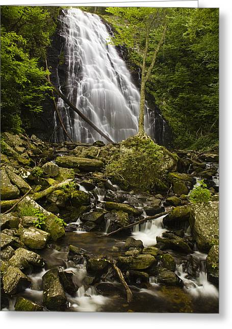 Crabtree Falls Greeting Card by Andrew Soundarajan