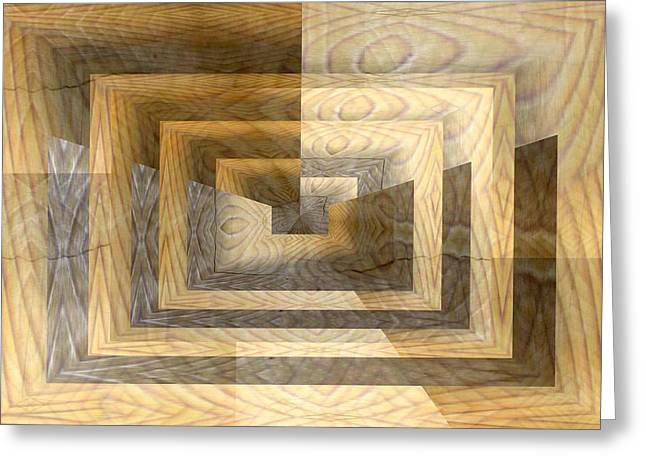 Cracks In The Veneer Greeting Card by Tim Allen