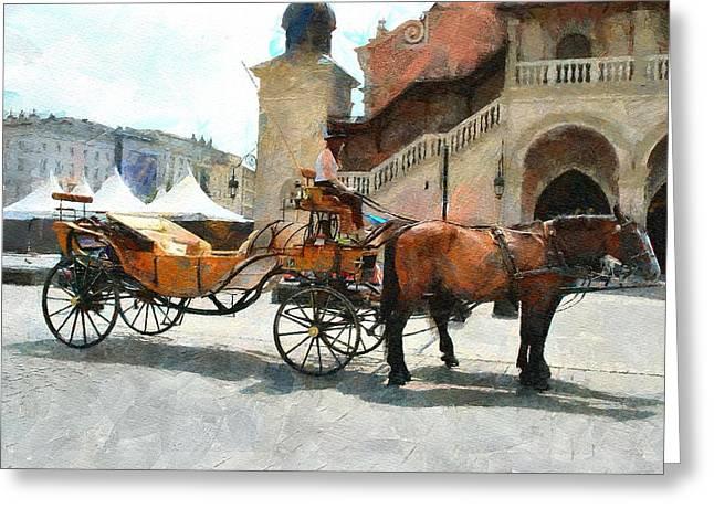 Cracovia Cab Greeting Card