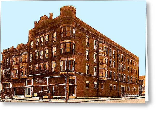 Craig And Sons Department Store In Cambridge Oh Greeting Card by Dwight Goss