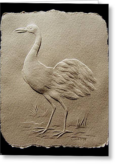 Crane Bird Greeting Card