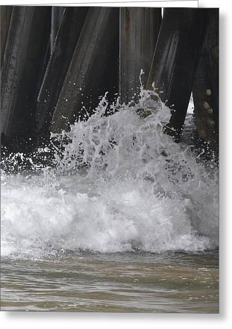 Crashing Below Shore Greeting Card by Naomi Berhane