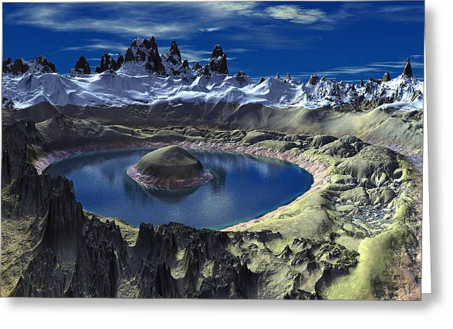 Crater Lake Greeting Card by Heinz G Mielke