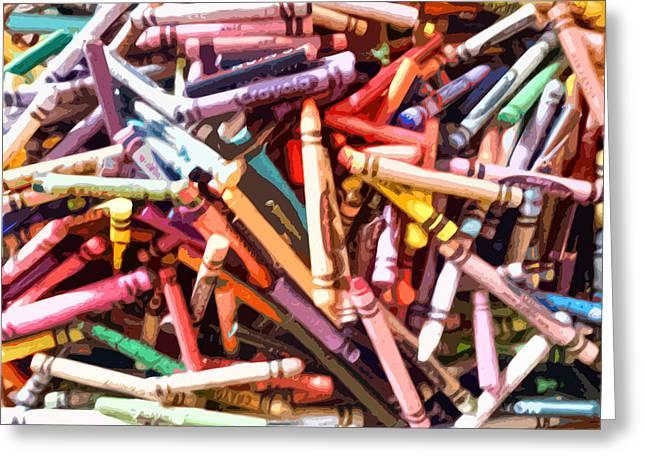 Crayola Greeting Card by Bernadette Kazmarski