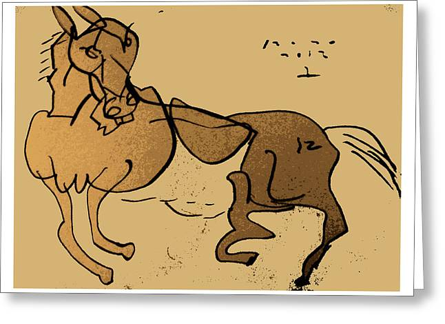 Crazy Horse Greeting Card by Peter Szabo