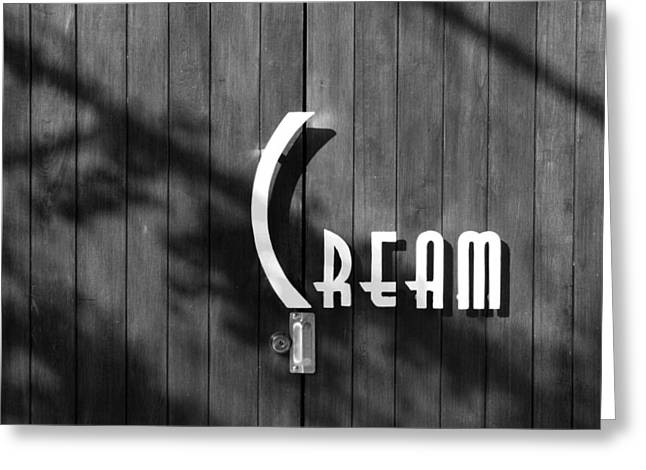 Cream Greeting Card by Jeannette Hunt