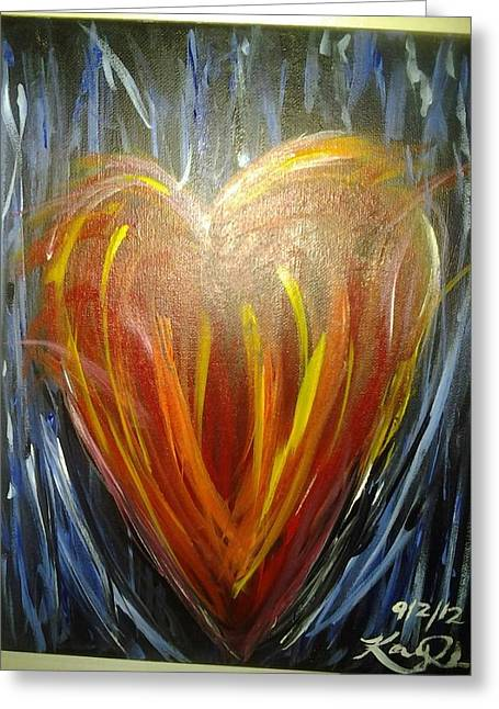Create In Me A Clean Heart Greeting Card by Kaylania Chapman