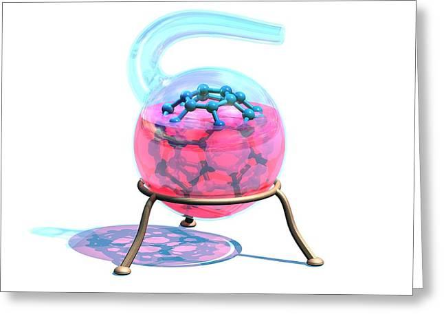 Creating A Buckyball Molecule Greeting Card by Laguna Design