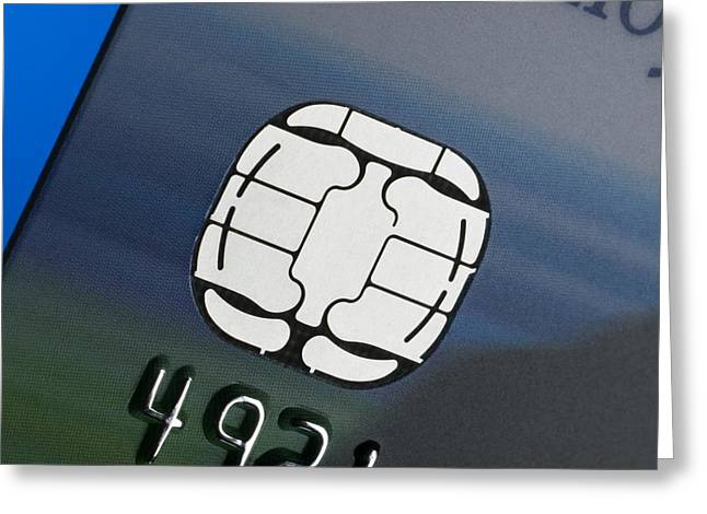 Credit Card Microchip Greeting Card by Steve Horrell