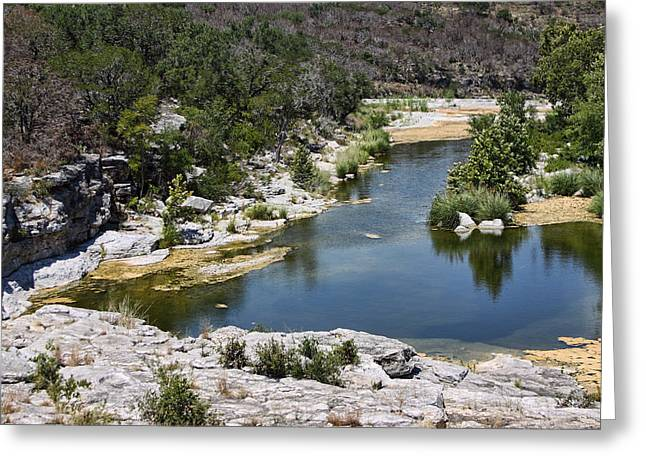 Creek Water Greeting Card by Linda Phelps