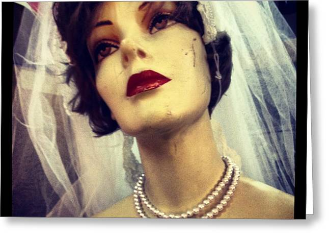 Creepy Vintage Bride Greeting Card