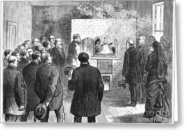 Cremation, 1876 Greeting Card