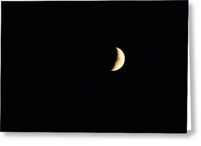 Crescent Moon Greeting Card by Jessica Cruz