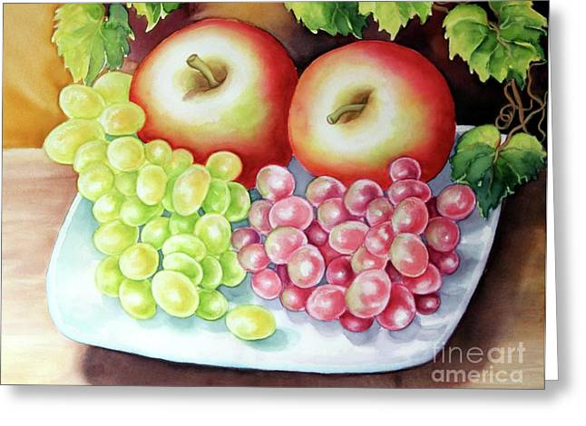 Crispy Fruits Greeting Card
