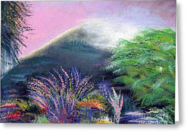 Greeting Card featuring the painting Croagh Patrick by Alys Caviness-Gober