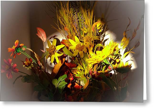 Crock Pot Full Of Flowers Greeting Card
